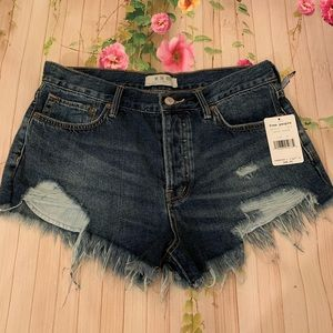 Free People Cutoffs High Waist Denim Shorts
